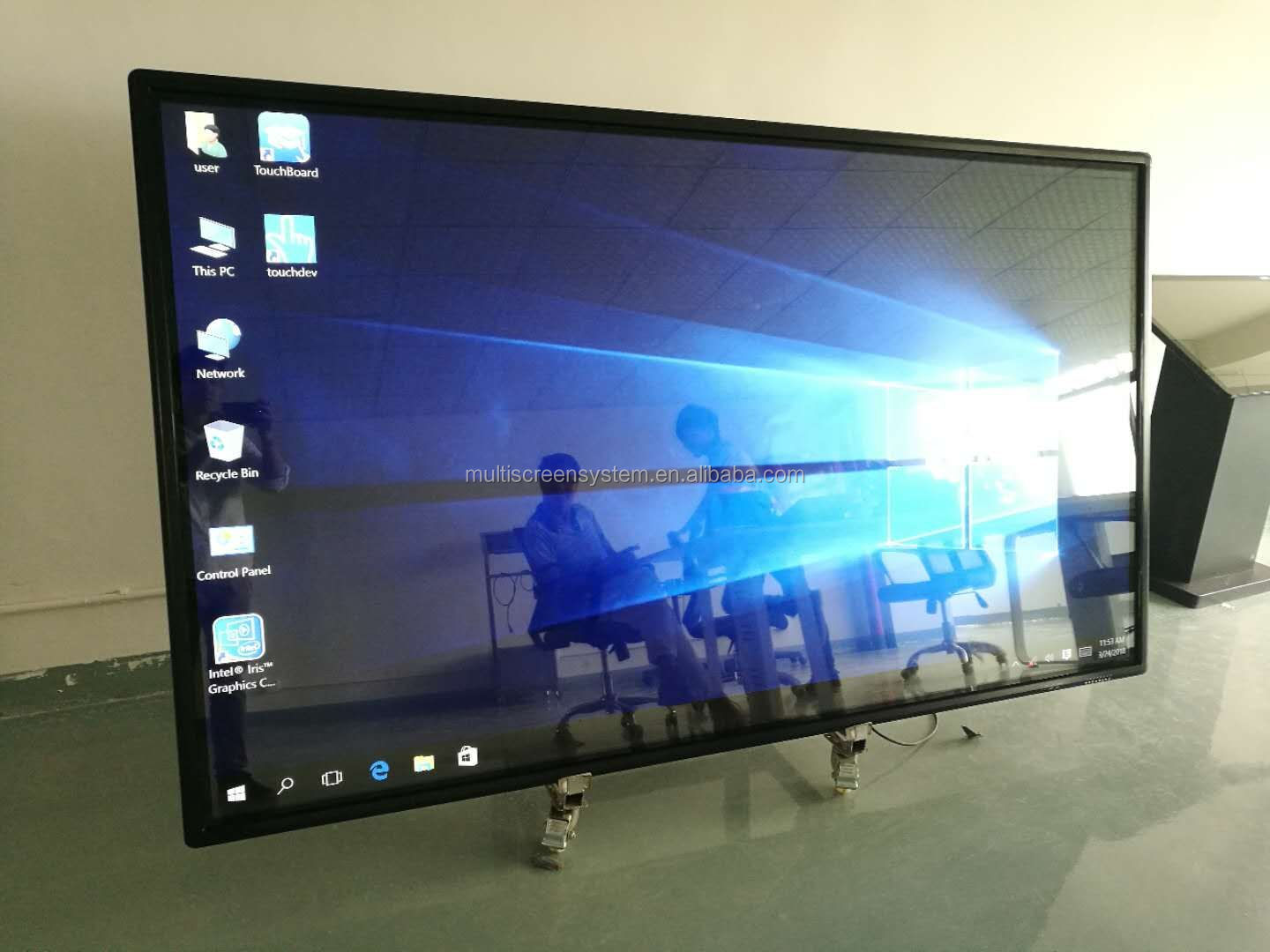 EKAA 86 inch draagbare elektronische whiteboard dual system touch screen conferentie whiteboard