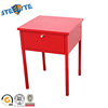 Simple designs red nightstand steel bedside cabinet for kids