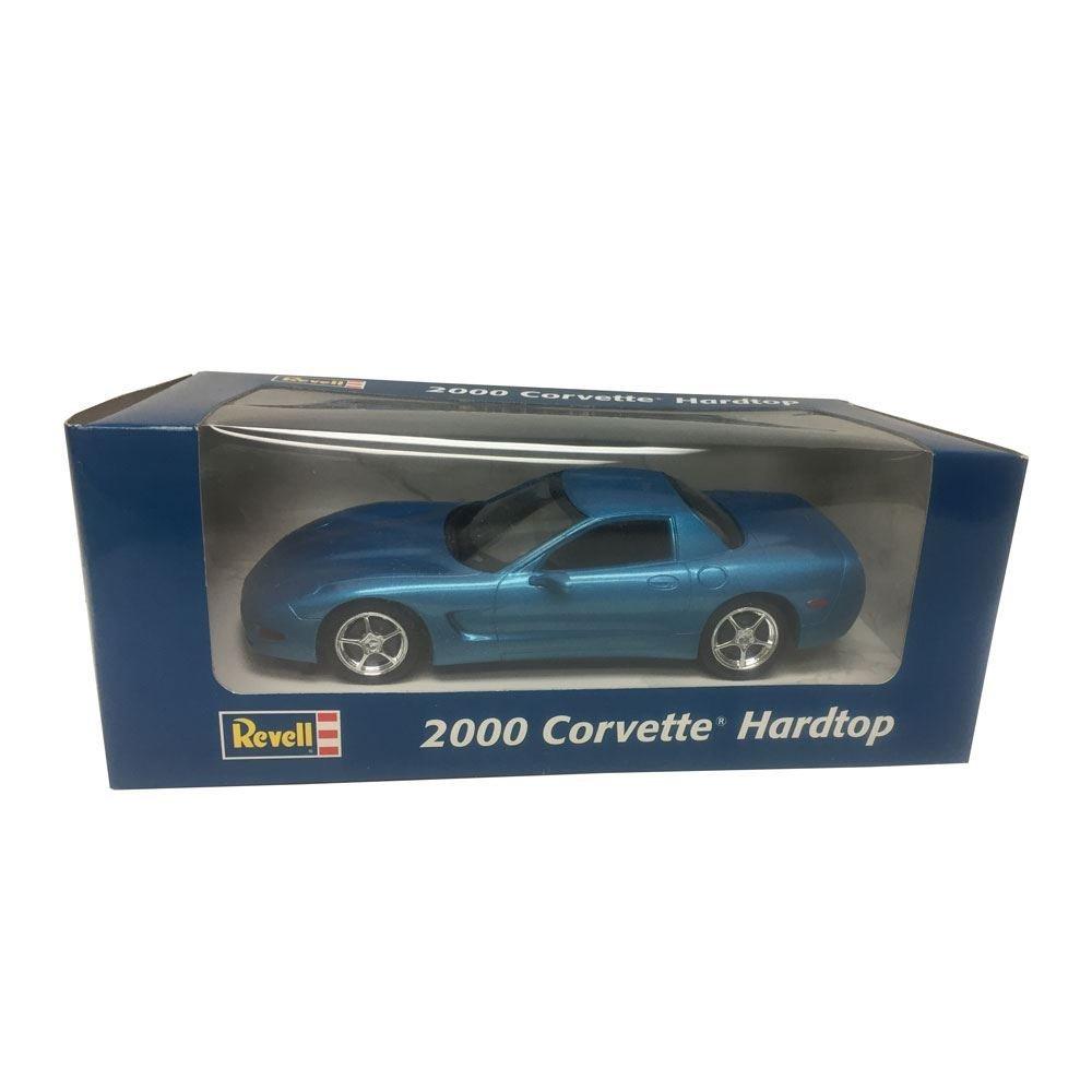 Revell Chevrolet 2000 Corvette Hardtop 1:25 Scale Plastic Promo Blue Metal Car Replica