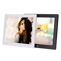 12inch led digital photo frame photo/video/music playback
