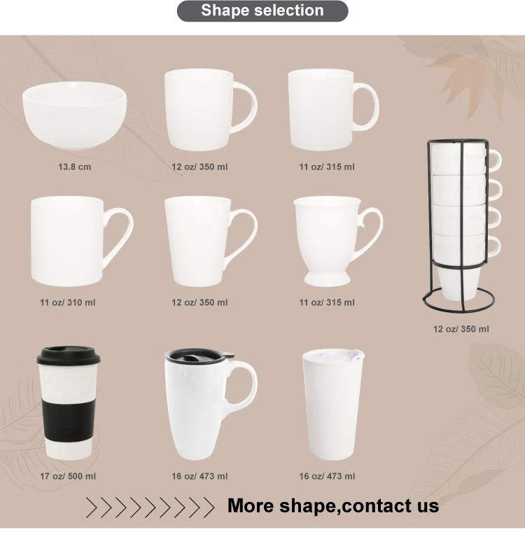 Customized Logo and Design watercolor Advertising Ceramic Mug