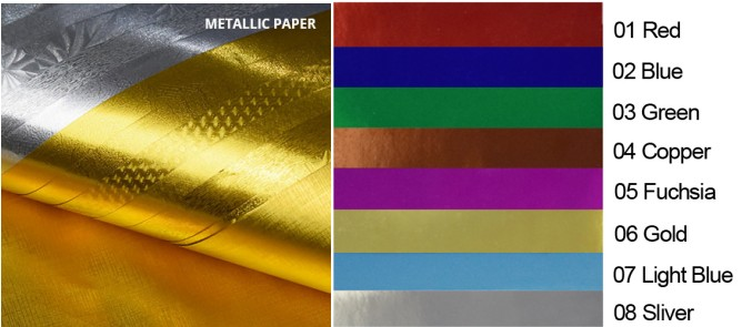 Factory offer embossed metallic hand made paper sheet for wedding