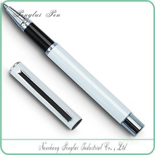 premium metal roller pen with cap, blue high quality roller pen black and blue gel pen