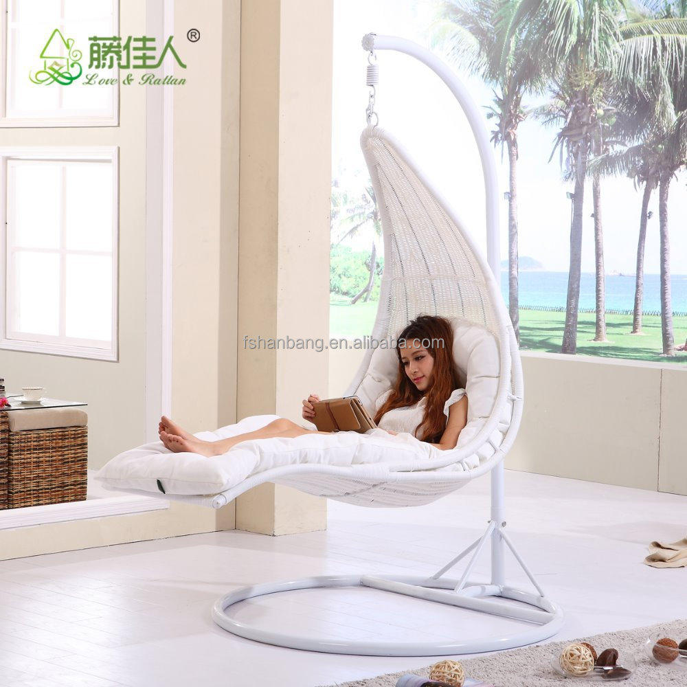 Outdoor Rattan Garden Swing Chair Bed for Sale