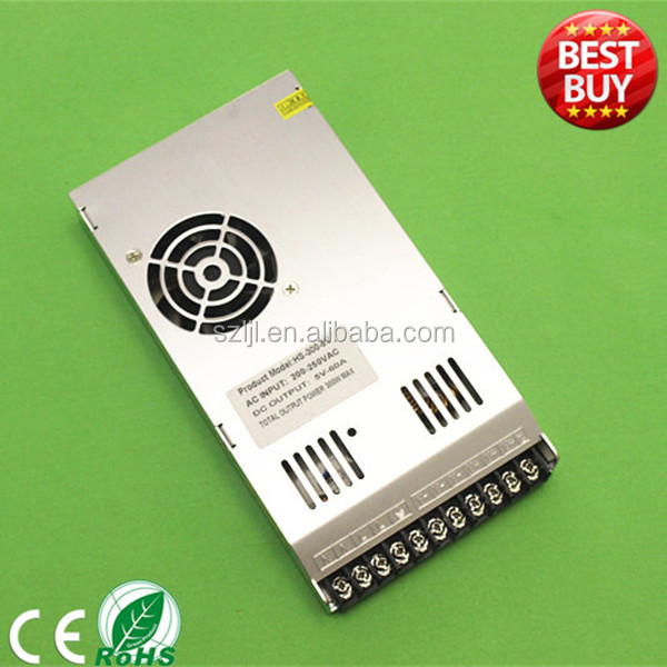 Iron Case LED Power Supply 300W 5V SWITCHING POWER SUPPLY with CE ROHS