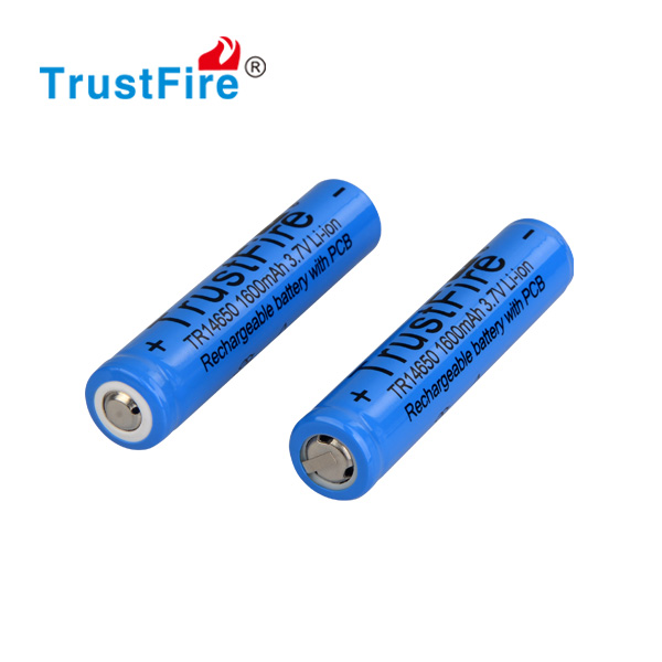 Trustfire li-ion batteries bulk 14650 4.2v rechargeable battery 1600mAh for flashlight