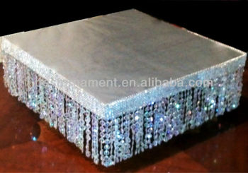 Superb Square Crystal Cake Stand For Wedding Cakes