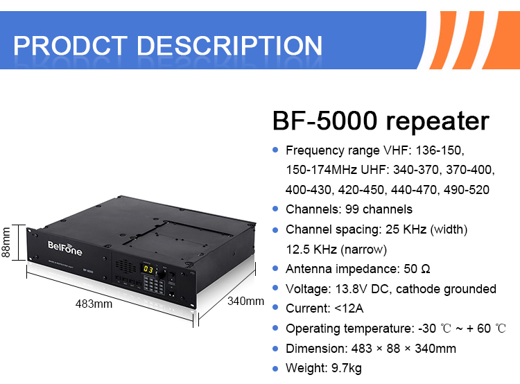 Dual Band VHF/UHF Analog Long Distance Repeater