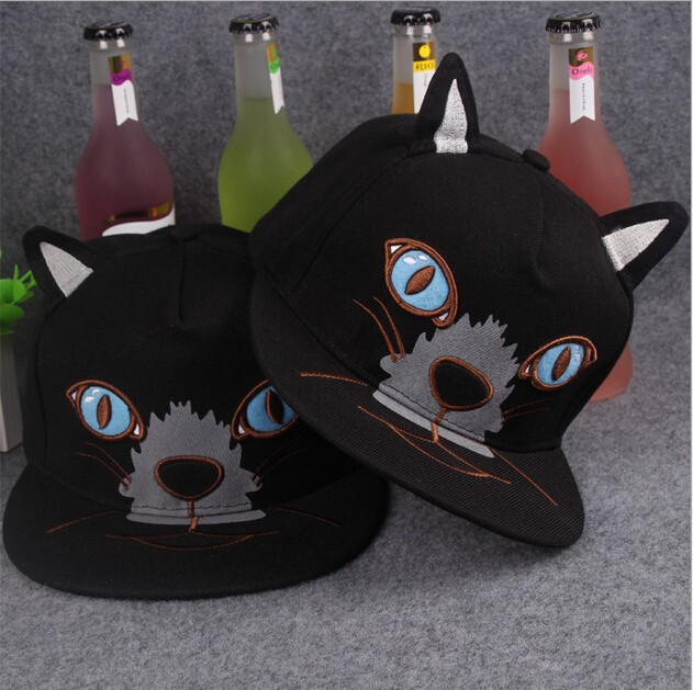 Newest animal snapback cap high quality funny cat ear snapback cap from Jeya