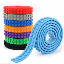 DIY 3M Self-Adhesive Baseplate Silicone Building Brick kid Toy for Legos Tape