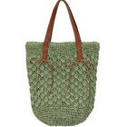 2019 reusable charm green retro raffia straw crochet bag