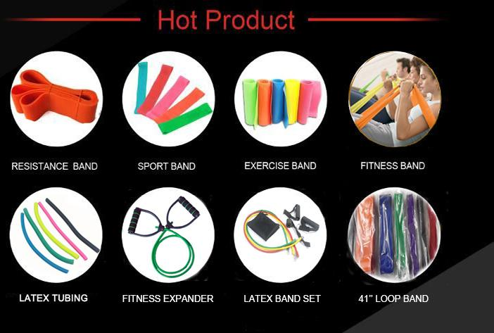 Crossfit plastic handles Resistance bands for fitness