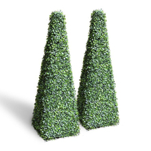 2ft 13 ''Artificial Buxo Topiary <span class=keywords><strong>Pirâmide</strong></span> Torre