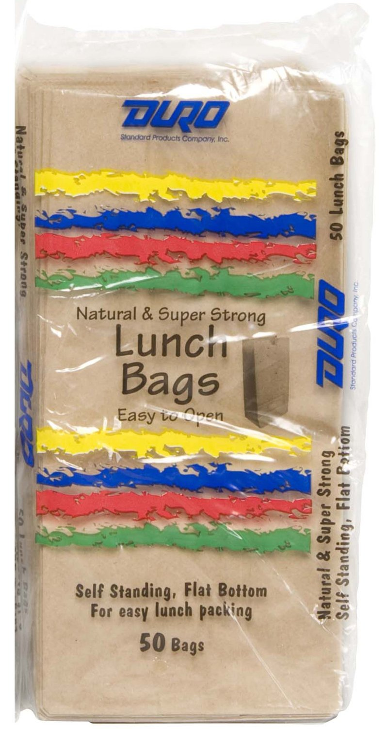 Duro ID# 80055 5# SOS Lunch Bag 30# 100% Recycled Natural Kraft 1200pk (24 packs of 50) 3-7/16 x 5-1/4 x 10-15/16