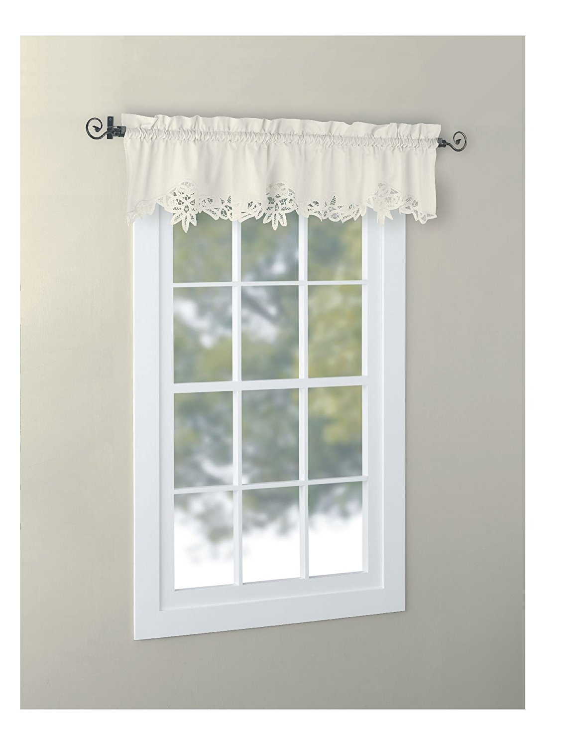 Buy Euphoriahome Battenburg Lace Kitchen Curtain Valance Swags Tiers White 24 L In Cheap Price On Alibaba Com