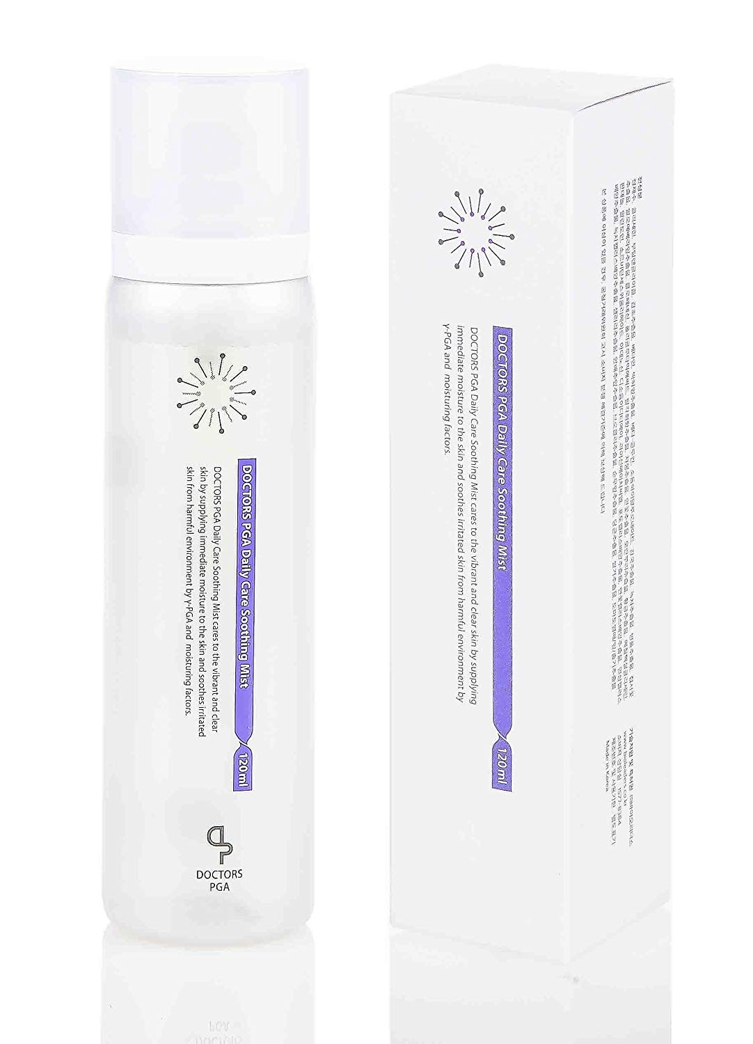 [DOCTORS PGA] Daily Care Soothing Mist (120ml) - Feel Instantly Renewed, Anytime, Anywhere, Daily Relaxing Facial Mist, Aloe Vera Leaf, Adenosine, Centella Asiatica Leaf Extract, Polyglutamic Acid
