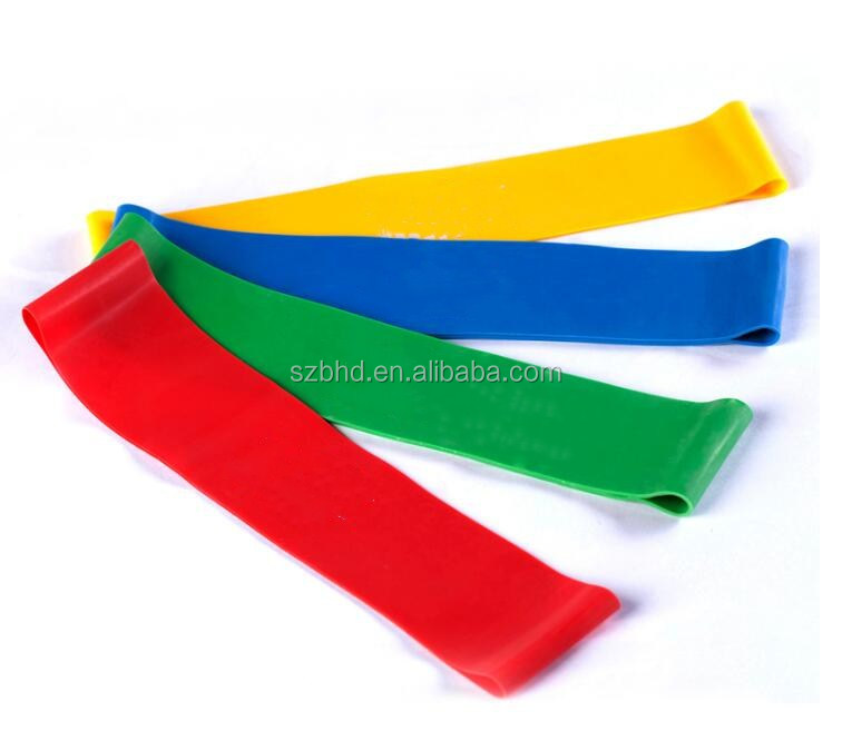 Hotselling 4pcs Set Join Sports Fitness Exercise Resistance Loop Bands with Custom Printed Logo