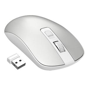 2.4G USB Wireless Mouse,Slim & Noiseless,Optical PC Laptop Cordless Mouse with Nano Receiver,1600 DPI 3 Adjustment Levels