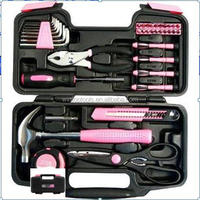 39pcs pink lady household tool set