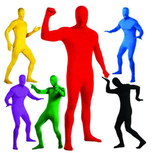 Tuta Morphsuit <span class=keywords><strong>Costumi</strong></span> Lycra Zentai Seconda Pelle Full Body Halloween Costume Colorato