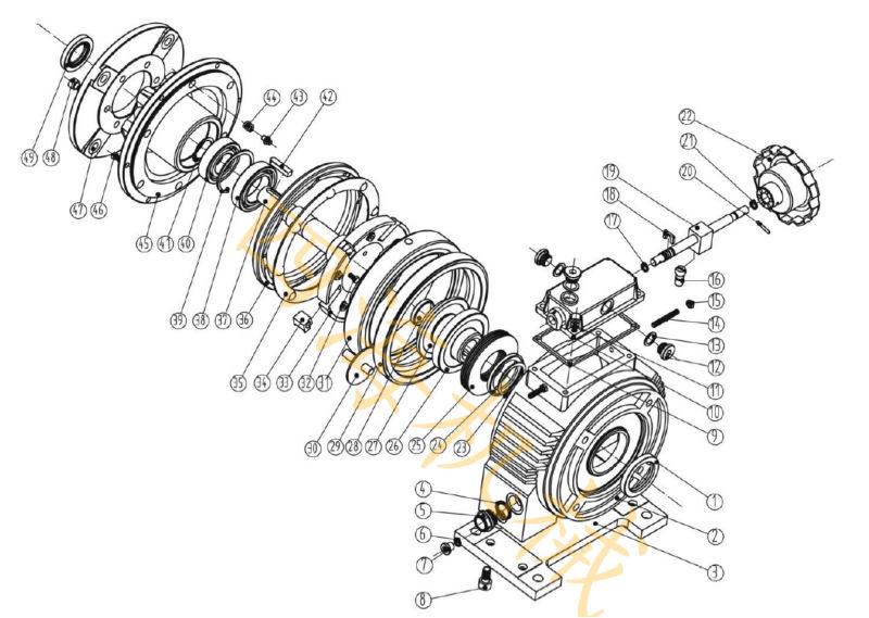 ud4 0 series cast iron stepless speed variator planetary