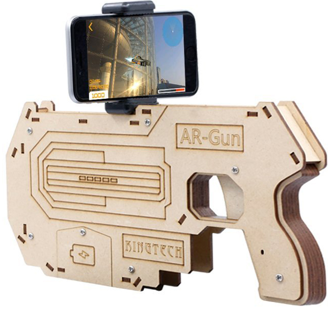 2017 New model 3D Virtual Reality Shooting Gaming Toy AR Smart 3D VR Gun for Smartphones