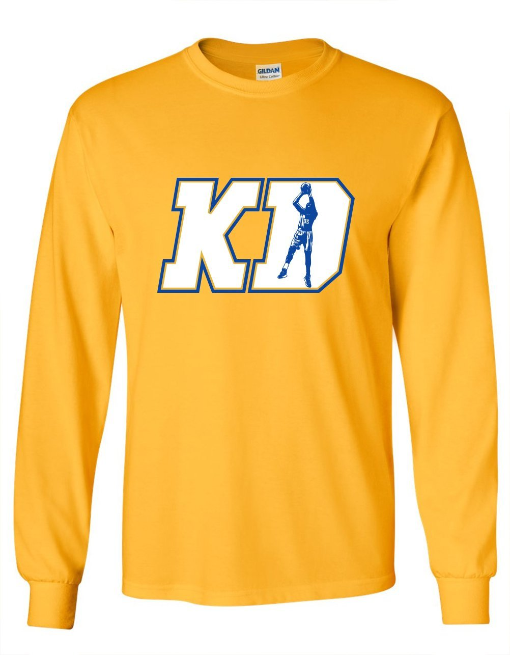 buy popular 47c69 58c3e Get Quotations · LONG SLEEVE Gold KD DURANT Golden State