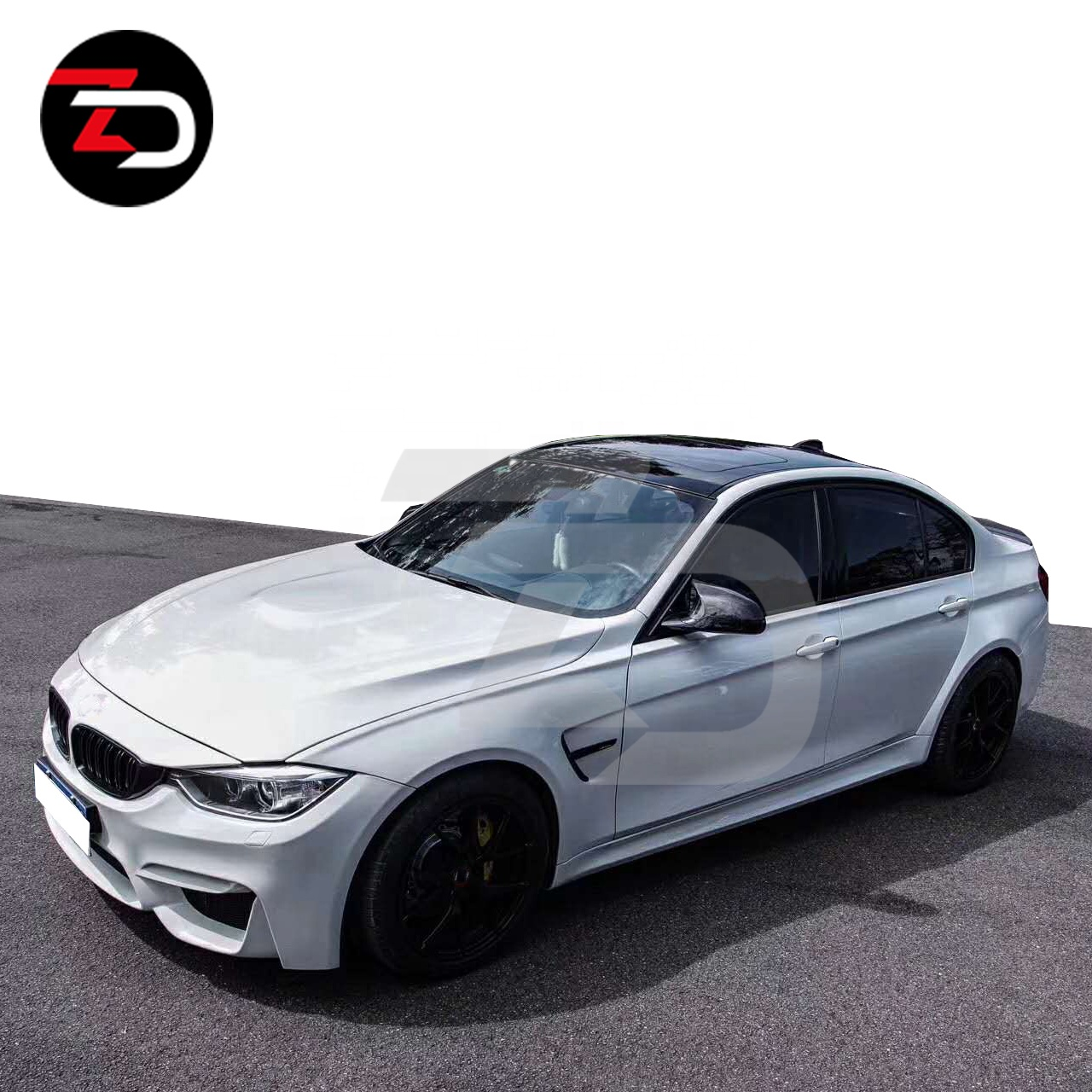 Perfecte montage 3 Serie wide body kit cars Voor M3 F30 F35 In FRP