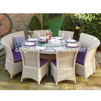 Curved Bench Designed Antique Style Balcony Dining Chair And Table Set  Wicker Outdoor Restaurant Furniture Dubai   Buy Restaurant Furniture ...