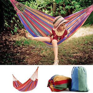 2018 hot selling cotton rope hammock swing/wood hammock chair stand air stand