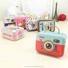 cool rectangle printed colorful lunch tin metal box