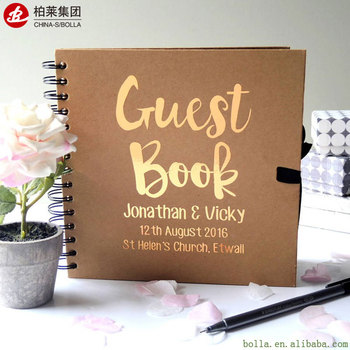 Por Fashion Hardcover Wedding Guest Book Printing