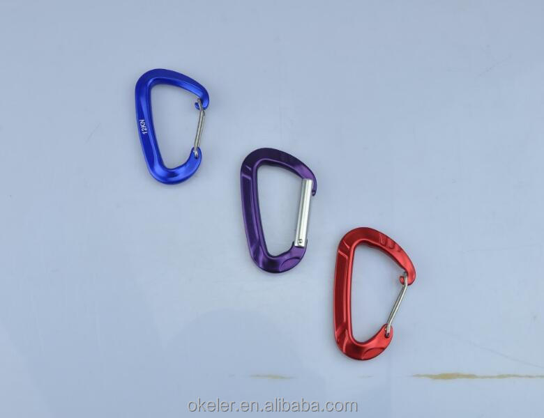 OEM Customize High Quality Aluminium Alloy Carabiners Hook for Hammocks