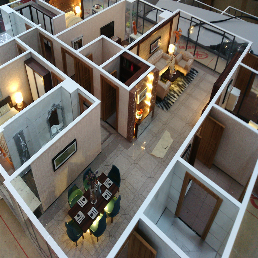 Architectural scale model maker of house interior layout interior scale model malaysia