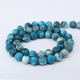 SB6790 Matte Blue Crazy Lace Jasper Round Beads,Matte Blue Semiprecious Stone Beads Strands