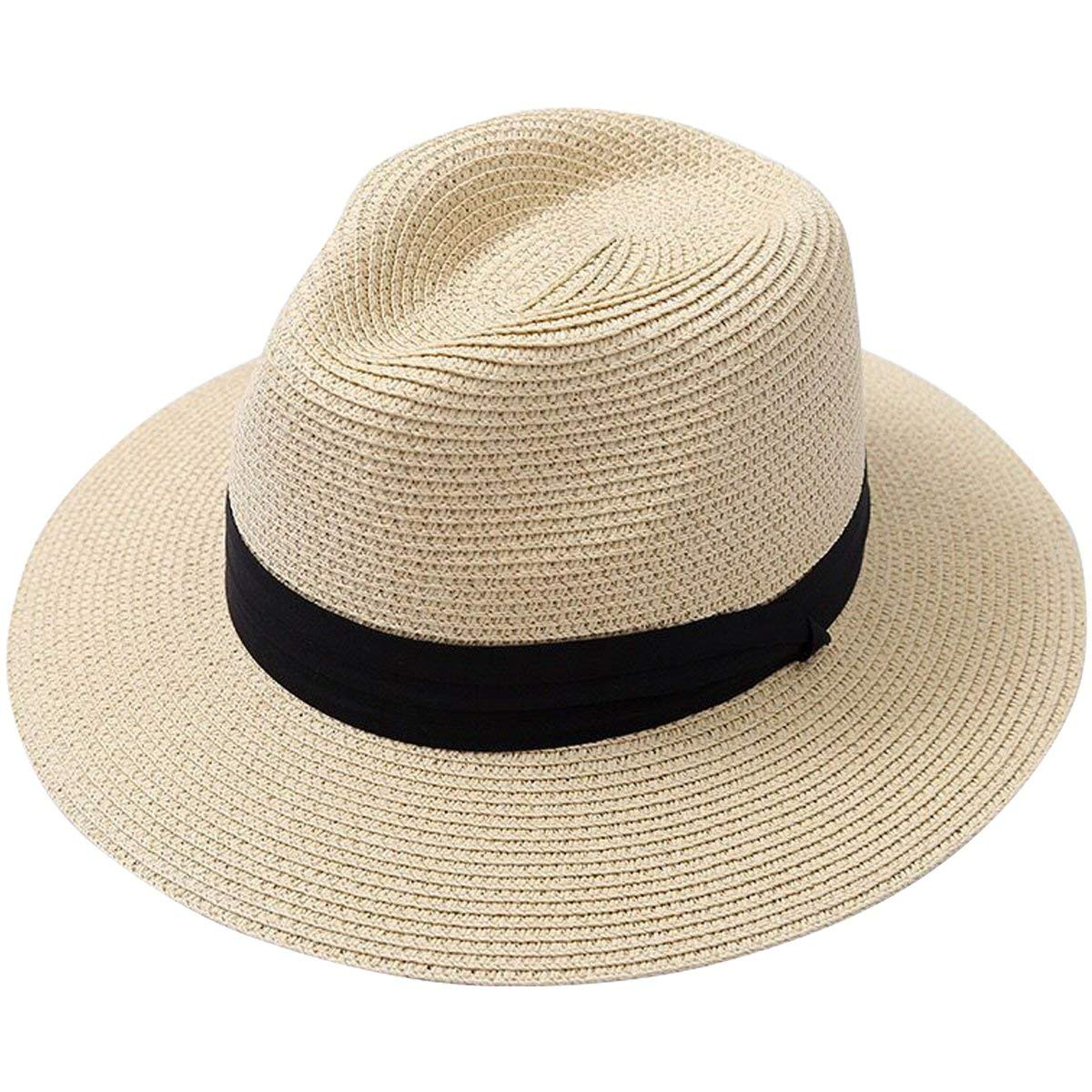 Qchomee UPF 50 Sun Hat,Unisex Wide Brim Bucket Hat Breathable Sun UV Protection Beach Hat Safari Boonie Hat Camping Fishing Hat with Chin Strap