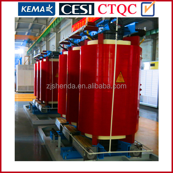 High quality epoxy resin cast dry type transformer 1600kva