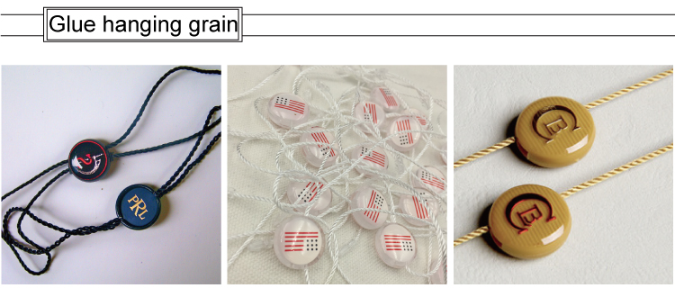 high quality string seal custom hang tags, hang tag string
