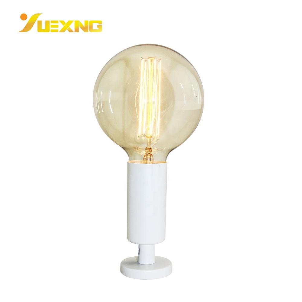 White Vintage  E27 Led Bulb Table Light Base Indoor Fixture Desk Lamp