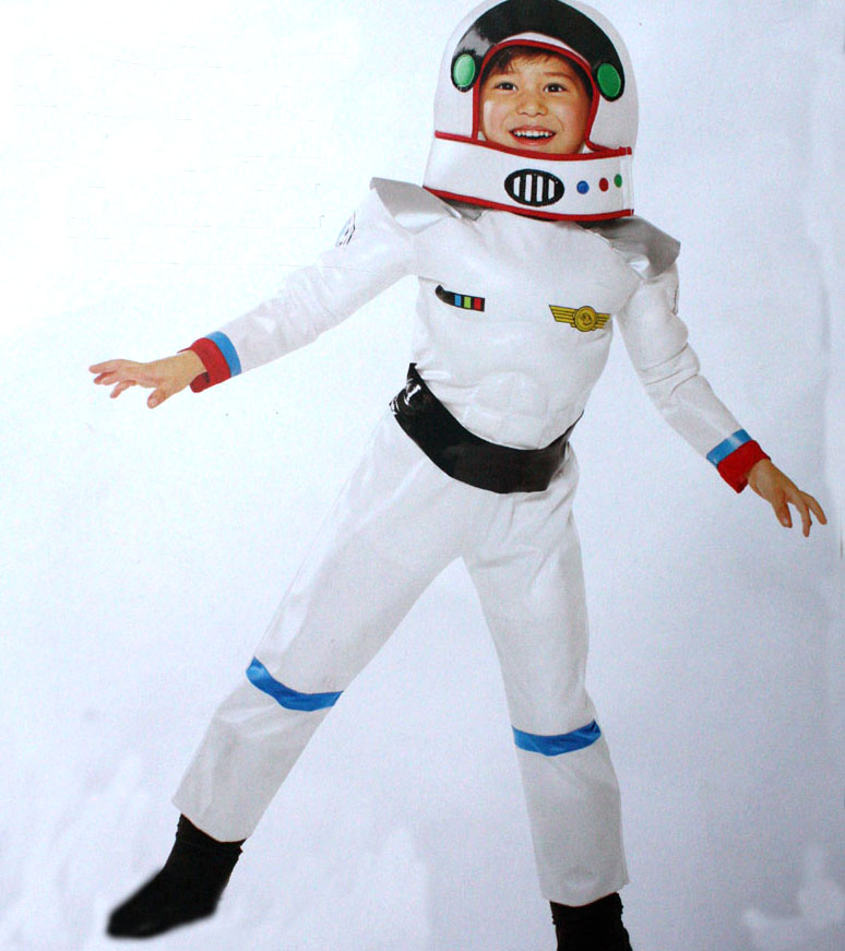 Kids new Astronaut Costumes Boy White Space Suits halloween cosplay costumes for kids ...