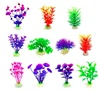 Artificial Plants Small Aquarium Plants Fish Tank Decorations, Used for House/ Office Aquarium Simulation Plastic Hydroponic