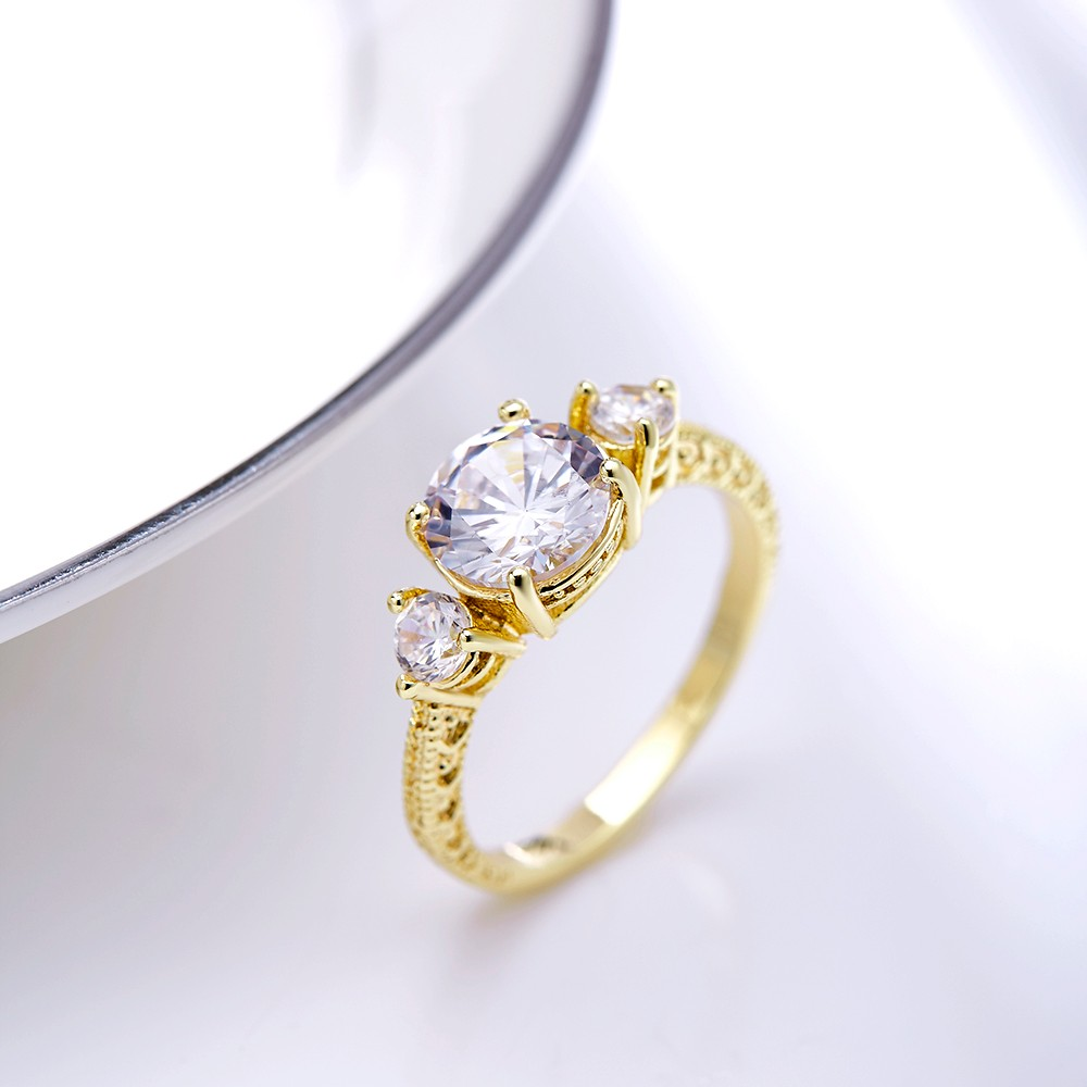Latest Gold Plated Finger Ring Designs Copper Jewelry Women Diamond ...