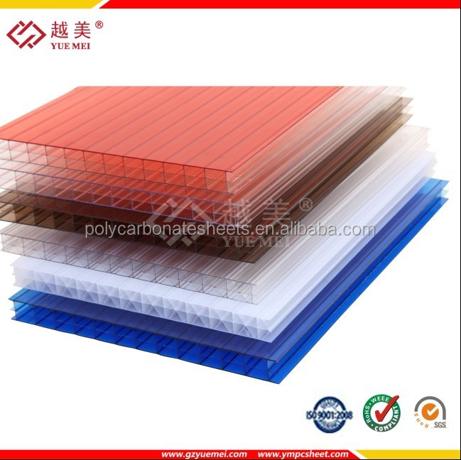 sun sheet/ polycarbonate sunlight panel clear, blue, lake blue, bronze, opal, green, etc.