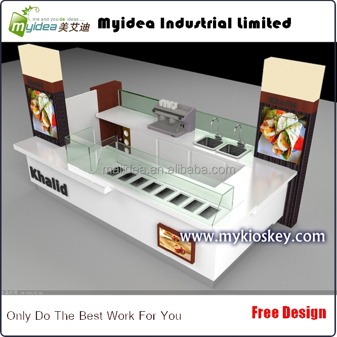 center commercial fast food kiosque stand conception et. Black Bedroom Furniture Sets. Home Design Ideas
