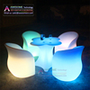 Flower Shape Modern design plastic lighted up led bar cocktail table for night club