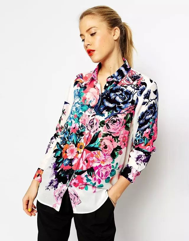 fd49d9b94b3e Buy New Arrival Ladies Vestidos Flower Floral Print Yellow Blouse Shirt Women  Summer Long Sleeve Casual Slim Tops in Cheap Price on Alibaba.com