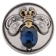 KC5203 partnerbeads 18-20MM snap Antique SILVER honey bee charms