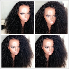10A Grade affordable price short kinky curly full lace wig