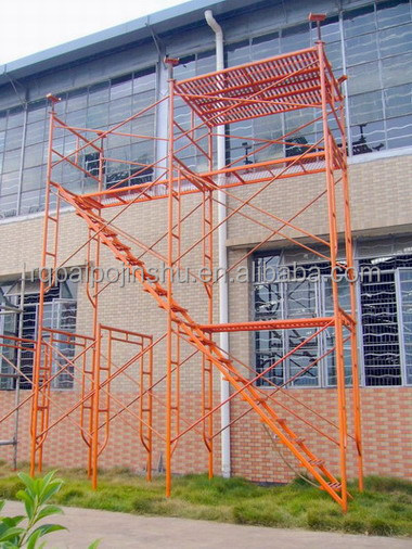 Ladder frames scaffolding,Framework system used shoring frame scaffolding for construction materials