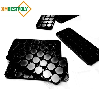 Thermoformed vacuum form plastic blister tray